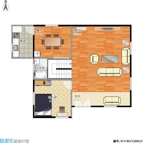 金沙・山海名门1室1厅1卫1厨96.00㎡户型图