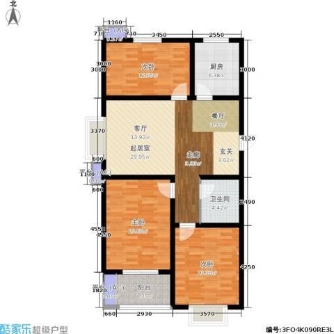 景祥苑3室0厅1卫1厨101.00㎡户型图