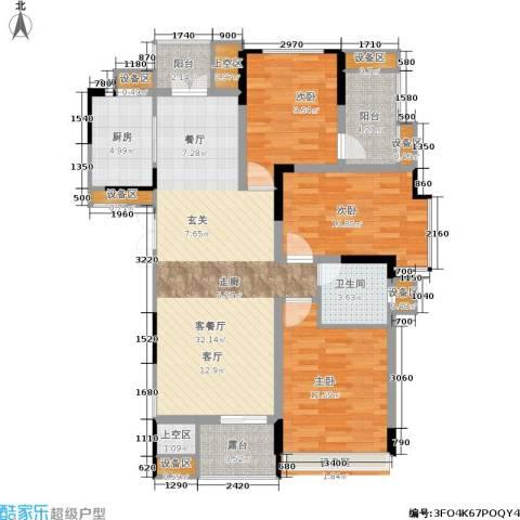 浙建枫华紫园3室1厅1卫1厨112.00㎡户型图