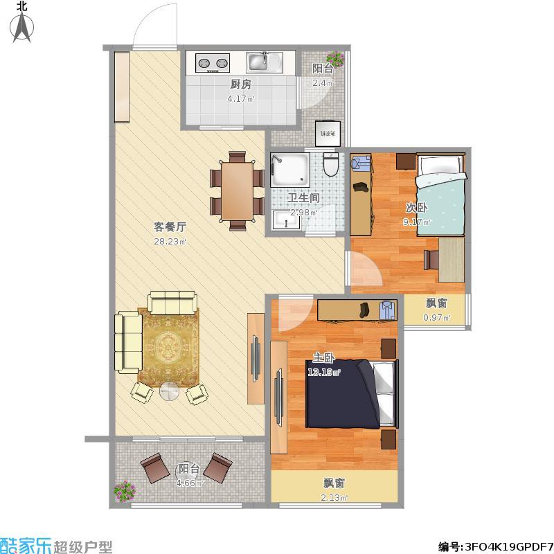 美泉1612-2楼楼2C户型