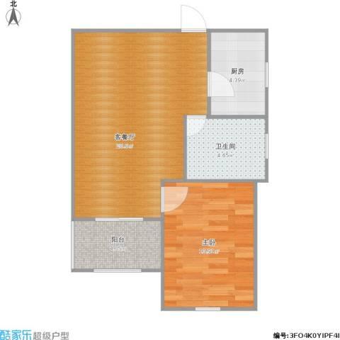 明日家园1室1厅1卫1厨60.00㎡户型图