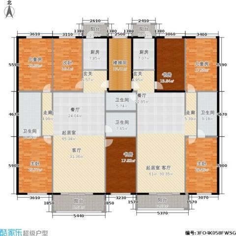玲珑花园7室0厅4卫2厨450.00㎡户型图