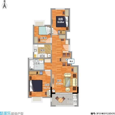 可逸兰亭3室1厅1卫1厨111.00㎡户型图