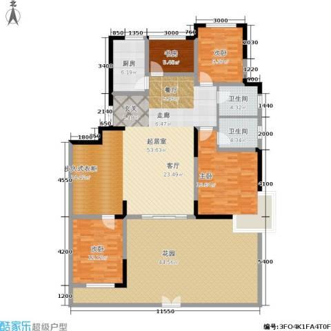 紫金江尚4室0厅2卫1厨155.55㎡户型图