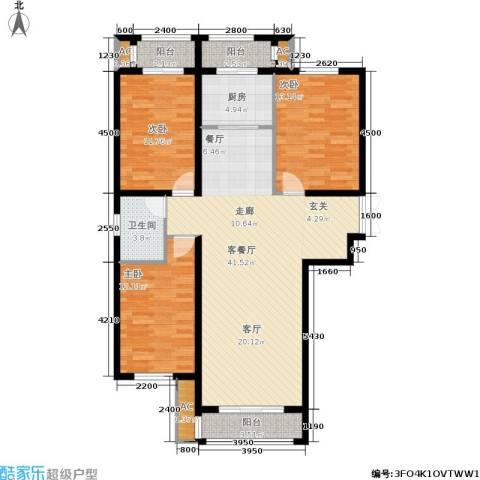 荣川沁园3室1厅1卫1厨137.00㎡户型图