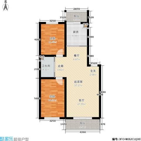 水木康桥一期2室0厅1卫1厨119.00㎡户型图