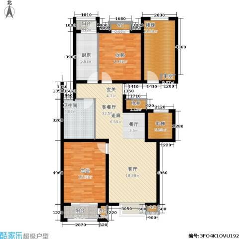 荣川沁园2室1厅1卫1厨110.00㎡户型图