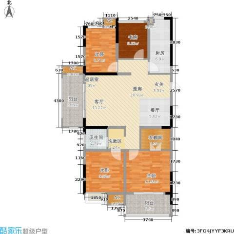城开新都雅苑4室0厅1卫1厨115.00㎡户型图