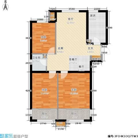 尚湖名筑3室1厅1卫1厨109.00㎡户型图