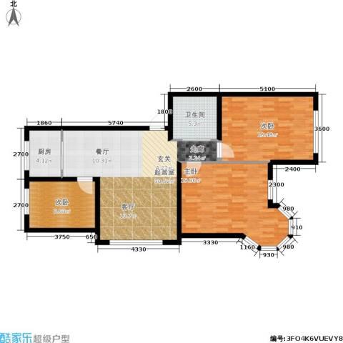锦绣家园3室0厅1卫1厨113.00㎡户型图
