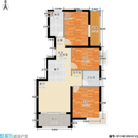 万达广场3室0厅1卫1厨103.00㎡户型图