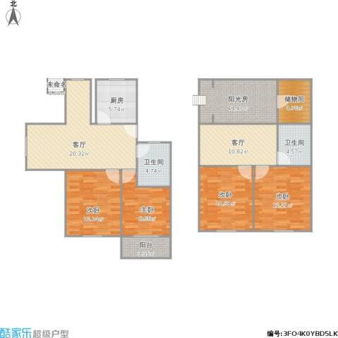苏江花园4室2厅2卫1厨148.00㎡户型图