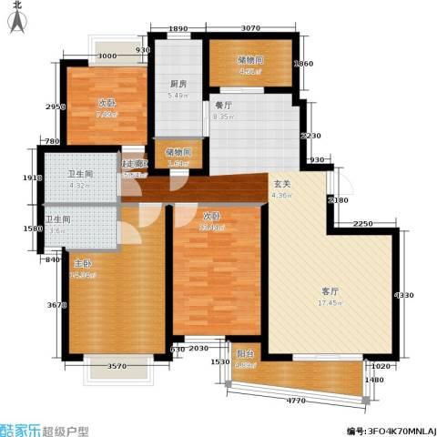 江南清漪园3室0厅2卫1厨110.00㎡户型图