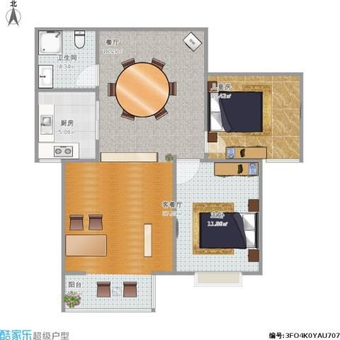 简筑1室1厅1卫1厨78.00㎡户型图