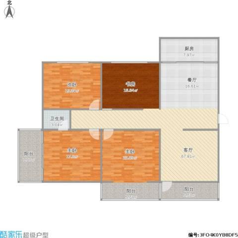 华茂大厦3室1厅1卫1厨159.01㎡户型图