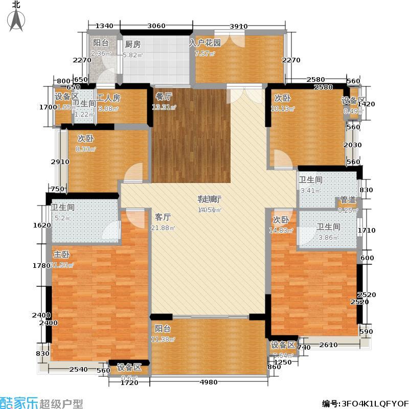 格兰名筑187.20㎡A2户型4室2厅