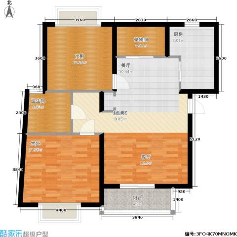 江南清漪园2室0厅1卫1厨89.00㎡户型图