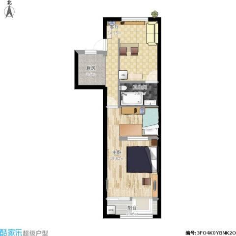 局门路434弄小区1室1厅1卫1厨63.00㎡户型图