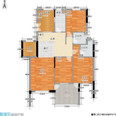 奥林匹克花园3室1厅2卫1厨95.00㎡户型图