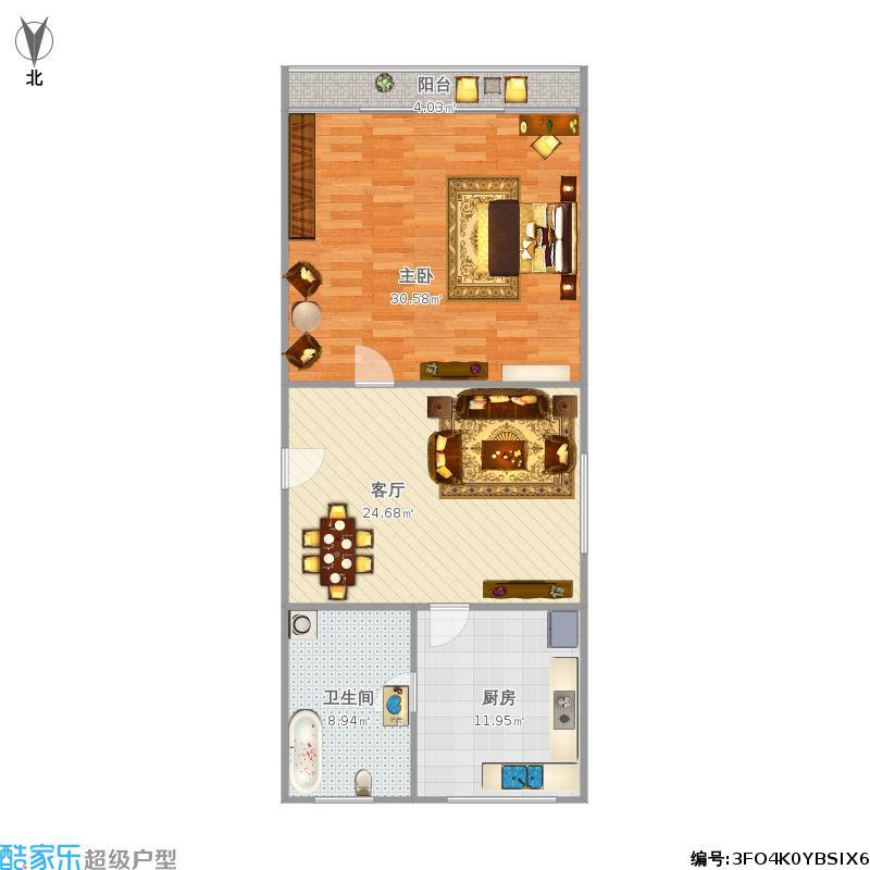 嘉德坊61平方一室一厅