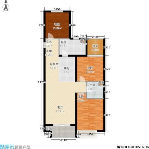 万达广场3室0厅1卫1厨118.00㎡户型图
