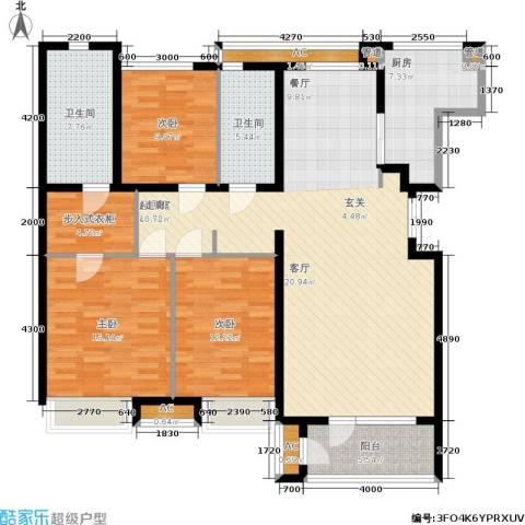 大连天地・悦翠台3室0厅2卫1厨168.00㎡户型图