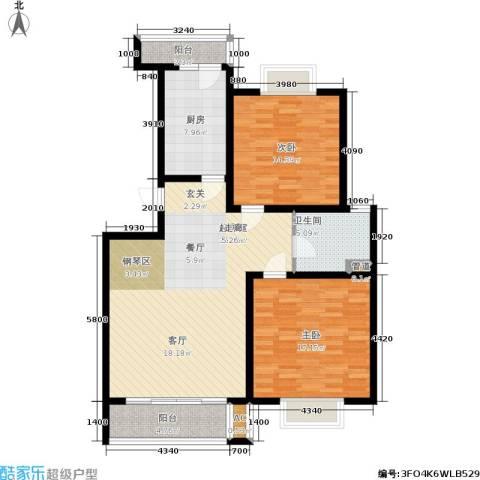 锦绣花木公寓2室0厅1卫1厨100.00㎡户型图
