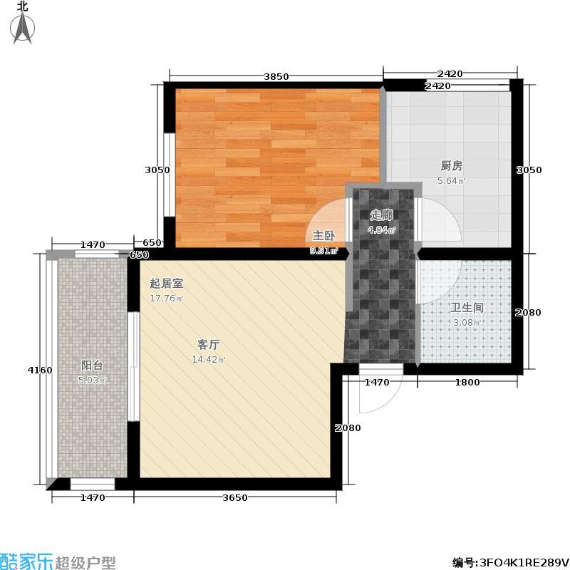 天顺家园63.10㎡G4户型1室1厅