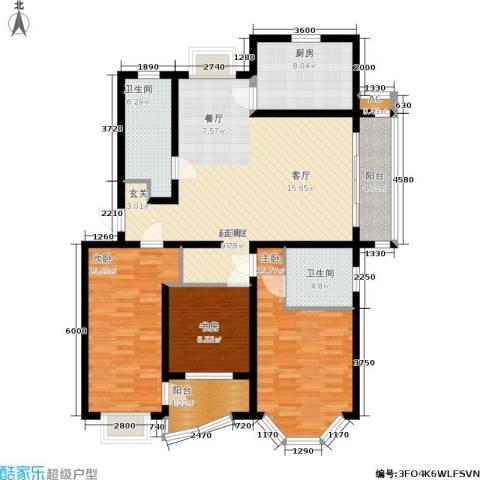 金地城3室0厅2卫1厨120.00㎡户型图