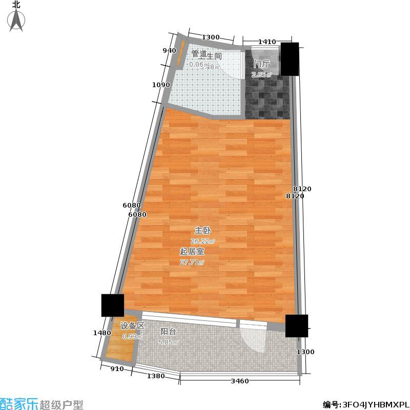 湘隆时代大公馆55.04㎡户面积5504m户型
