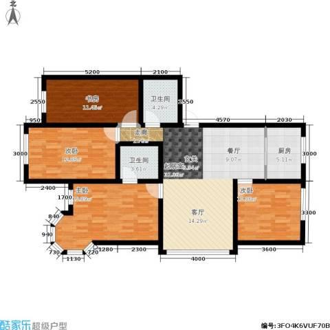 锦绣家园4室0厅2卫1厨134.00㎡户型图