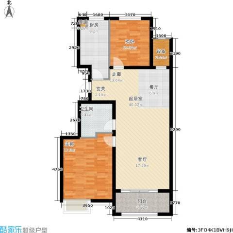 万达广场2室0厅1卫1厨102.00㎡户型图