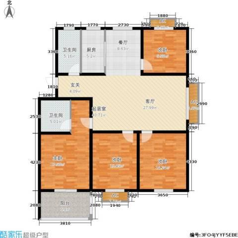 颐园世家4室0厅2卫1厨137.00㎡户型图