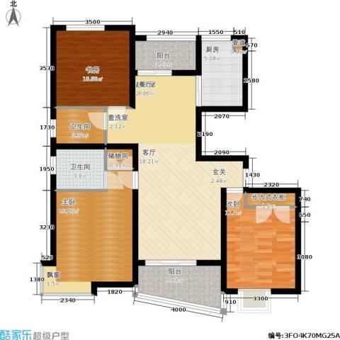 上南春天苑3室0厅2卫1厨115.00㎡户型图