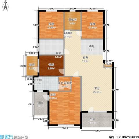 鲁能东方优山美地4室0厅2卫1厨173.00㎡户型图