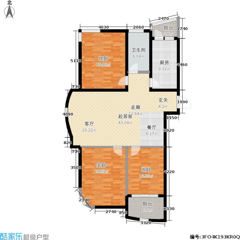 天府清华园二期11#楼楼头标准层C户型