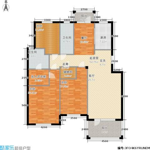 鲁能东方优山美地3室0厅2卫1厨170.00㎡户型图
