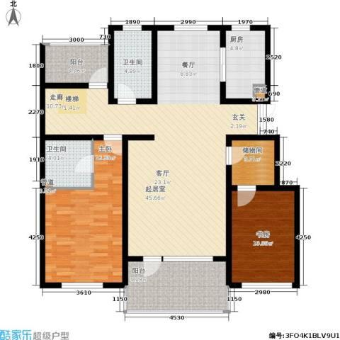 恒景溪山壹號2室0厅2卫1厨150.00㎡户型图