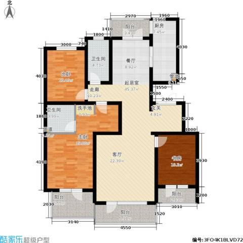恒景溪山壹號3室0厅2卫1厨172.00㎡户型图