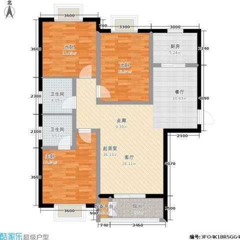 日出东方3室0厅2卫1厨130.00㎡户型图