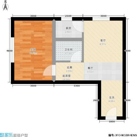 日出东方1室0厅1卫1厨52.00㎡户型图