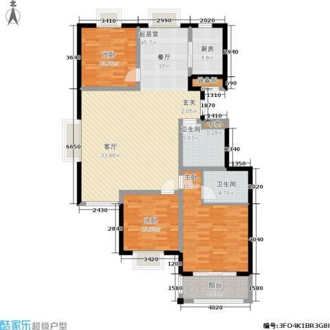 日出东方3室0厅2卫1厨149.00㎡户型图