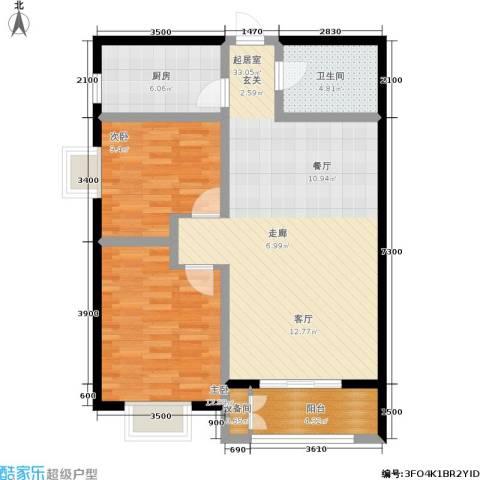 日出东方2室0厅1卫1厨102.00㎡户型图