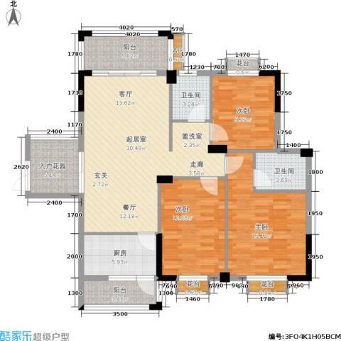 腾龙钻石广场3室0厅2卫1厨120.00㎡户型图