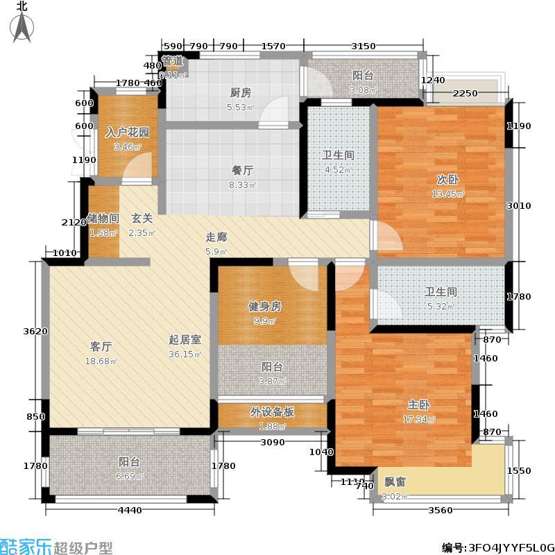 北江锦城124.98㎡小高层Xc户型
