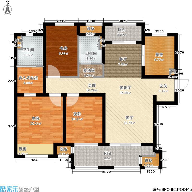 汇锦城122.00㎡户型3室2厅