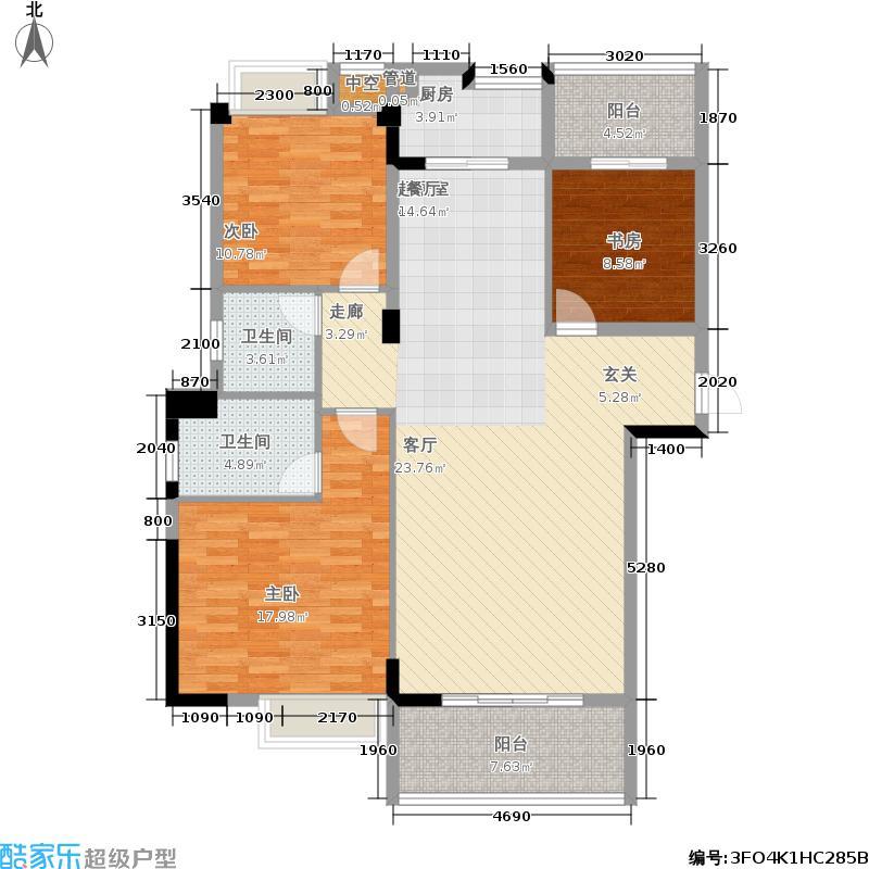 尚好家园124.00㎡3#、5#01/03单元3室户型