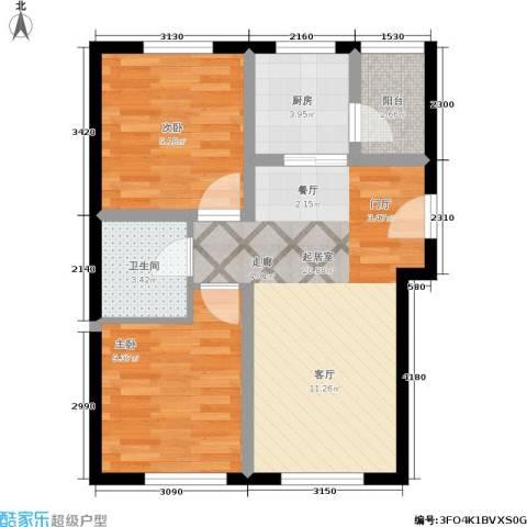 欣豪凤凰城2室0厅1卫1厨72.00㎡户型图