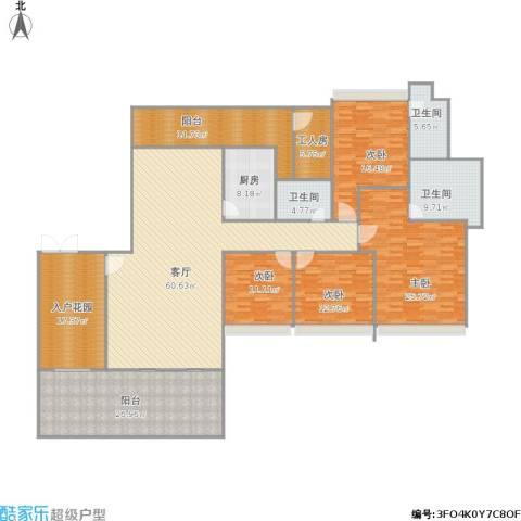 雅居乐・熹�4室1厅3卫1厨292.00㎡户型图