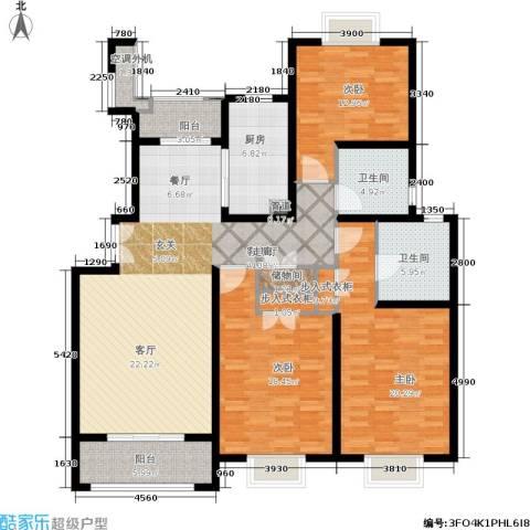 建邦16区3室1厅2卫1厨142.00㎡户型图